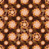 Flower vintage color seamless pattern Stock Photos