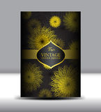 Flower Vintage Cover design template vector illustration Royalty Free Stock Images