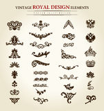 Flower vintage royal design element Royalty Free Stock Photo
