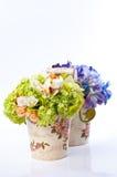 Flower in vintage vase Royalty Free Stock Photo