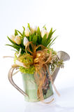 Flower in vintage vase Royalty Free Stock Images