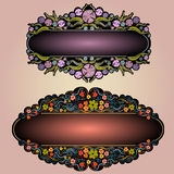 Flower Violet Luxury Banner Label Background Stock Photography