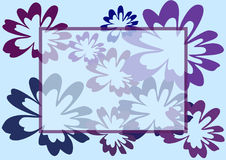Flower violet purple floral abstract  frame background Stock Photos