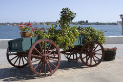 Flower Wagon - San Diego. Flower Wagon in Seaport Village San Diego Stock Images