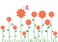Flower Wall Decal Royalty Free Stock Photography