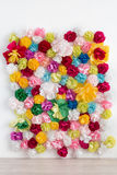 Flower wall decoration Interior Royalty Free Stock Image