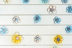 Flower wall Stock Images