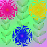 Flower wallpaper. Flower of frame on color background Stock Images