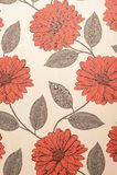 Flower wallpaper. Red and white flower wallpaper Stock Photos