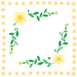 Flower wallpaper background. Flower wallpaper of frame on background Royalty Free Stock Photo