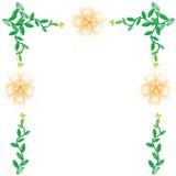 Flower wallpaper background. Flower wallpaper of frame on background Stock Photography