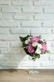 Flower Wallpaper. Glass Flower Shadow Wallpaper Background Stock Images
