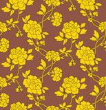 Flower wallpaper seamless royalty free stock image