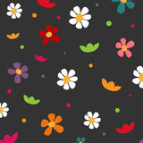 Flower wallpaper. Vector wallpaper with colourful flowers Royalty Free Stock Photos