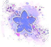 Flower & watercolor background Stock Image