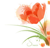 Flower watercolor background Stock Images