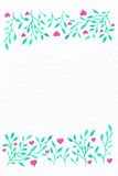 Flower watercolor.Card with water color leaves. By St. Valentine Stock Photography