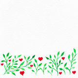 Flower watercolor.Card with water color leaves. By St. Valentine. 's Day.Watercolor background. Flower image. Flowers on an impressive surface. A card with water royalty free illustration