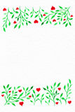 Flower watercolor.Card with water color leaves. By St. Valentine. 's Day.Watercolor background. Flower image. Flowers on an impressive surface. A card with water vector illustration