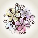 Flower watercolor design Royalty Free Stock Photos
