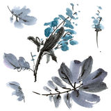 Flower watercolor illustration Royalty Free Stock Photography