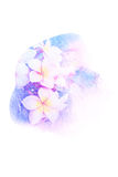 Flower watercolor illustration. Watercolor painting illustration of blossom flower. Artistic floral abstract background royalty free illustration