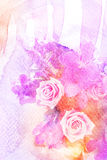 Flower watercolor illustration. Stock Photos