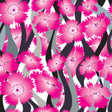 Flower wave seamless background. Floral pattern Royalty Free Stock Image