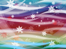 Flower Waves Background Shows Waves Colorful And Stars Royalty Free Stock Photo