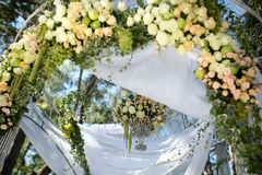 Flower wedding arch Stock Images