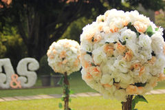 Flower at wedding day Royalty Free Stock Image