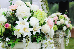 Flower in the wedding reception stock photos