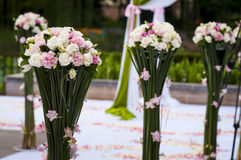 FLOWER IN THE WEDDING RECEPTION Stock Photography
