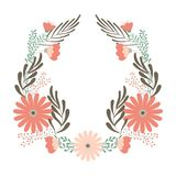 Flower wedding wreath, ornament concept for decorative greeting card or birhday Royalty Free Stock Images