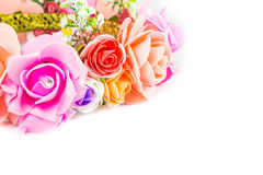 Flower white background add a message stock photography
