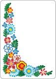 Flower on white background. Corner. Vector royalty free illustration