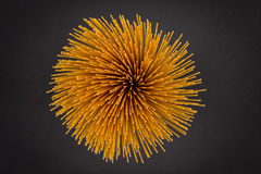 Flower of whole wheat spaghetti Stock Image