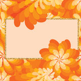 Flower windmill orange giltter frame seamless pattern Stock Photo