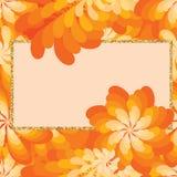 Flower windmill orange giltter frame seamless pattern Stock Photo