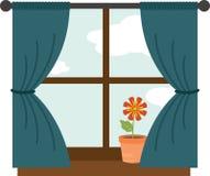 Flower In Window Stock Photo