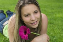 Flower Woman Stock Photography