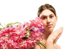 Flower woman Royalty Free Stock Photography