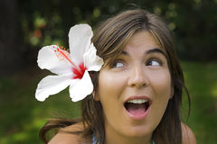 Flower woman Stock Images