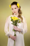 Flower woman Royalty Free Stock Images