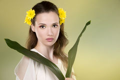 Flower woman Stock Image