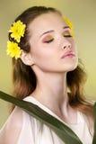 Flower woman Royalty Free Stock Photo