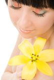 flower woman young 免版税库存图片