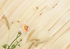 Flower and wood Royalty Free Stock Images