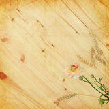 Flower and wood Stock Photo
