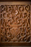 Flower wood carving Stock Photos